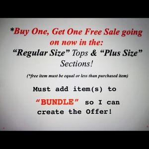 Other - Buy one, Get one Free Sale